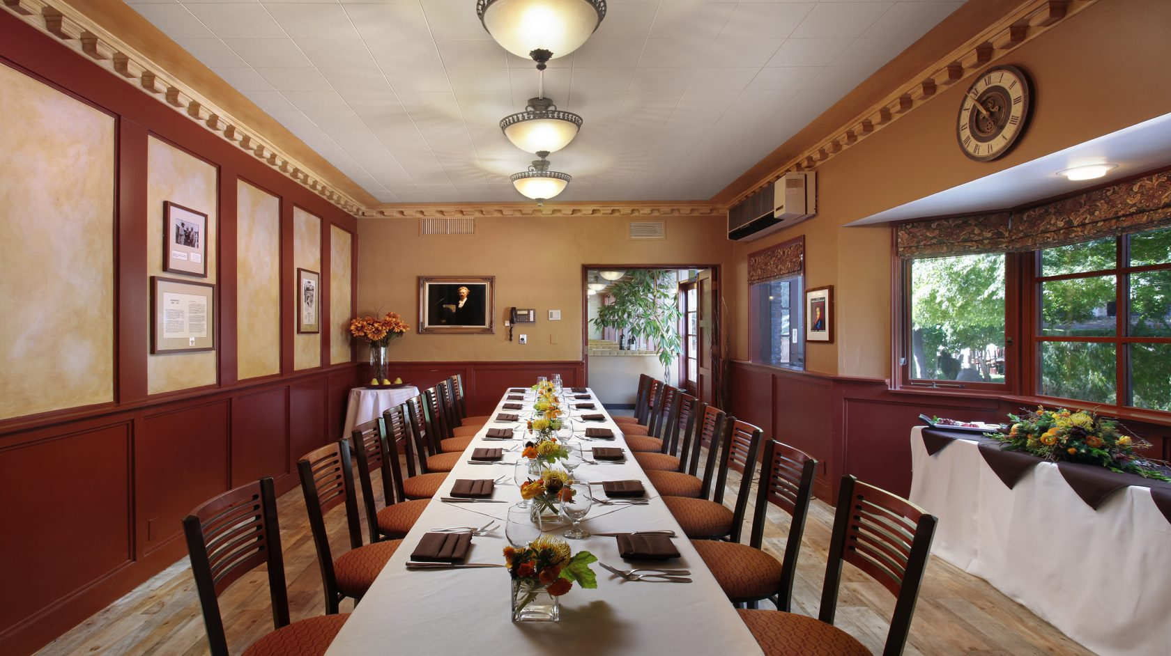 Paderewski Room set for elegant meal