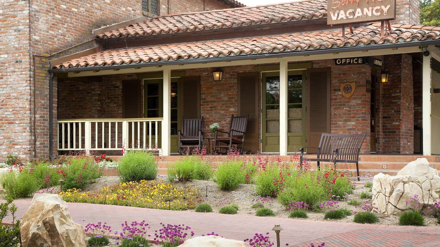 Drought Tolerant Front Patio of Paso Robles Inn