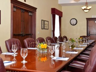 Elegant Meeting Room Conference Set Up