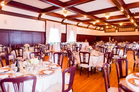 Paso Robles Inn Ballroom set up for wedding reception