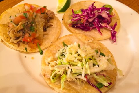 Variety Platter of Taco Tuesday Options at the Paso Robles Inn in Cattlemen's Lounge