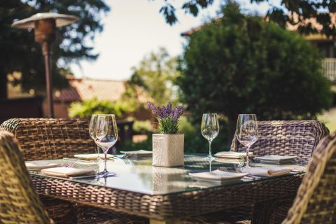 A Table With Wine Glasses