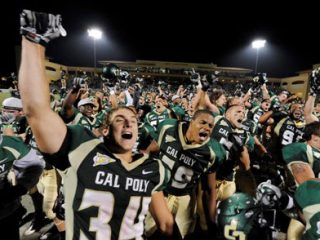 Cal Poly Football Team Cheering